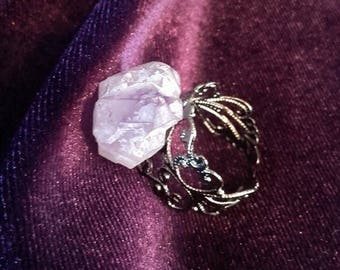 Amethyst Ring - pure gemstone rock spiritual