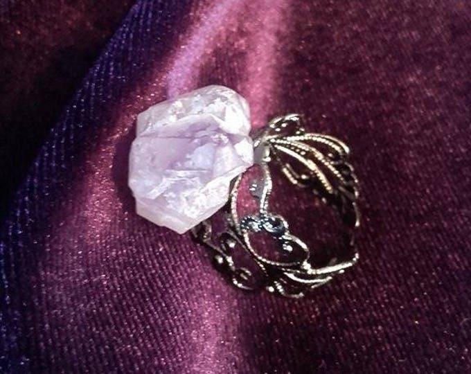 Amethyst Ring - pure gemstone rock spiritual