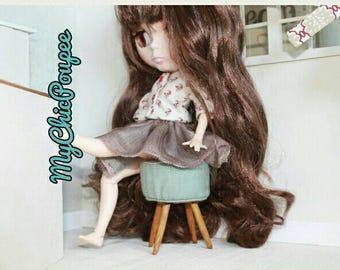 Stool, handmade wrist scale 1/6 Blythe, Barbie, Momoko....