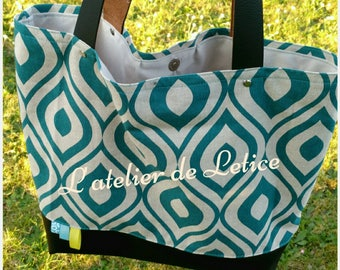 bi, cottons and faux tote bag