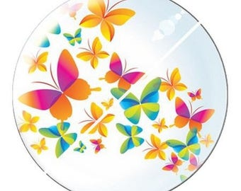 resin cabochon is 25 mm Butterfly e2 stick