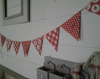 Garland of 9 flags in thick cardboard