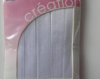 Satin ribbon single white face - 9 m x 10 mm