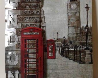 "Canvas 3d ""London"" on medium plate ON ORDER"