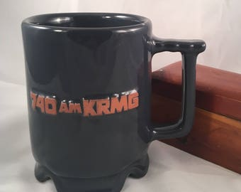 Vintage Frankoma Pottery Cup with 740AM KRMG LOGO