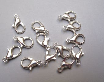 12 lobster clasp 14 mm silver color.