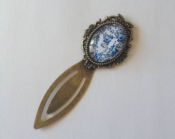 Bookmark bronze oval cabochon