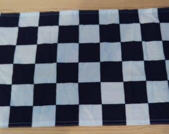 """CHECKERED FLAG - 45cm x 30cm - 18"""" x 12"""" -"""