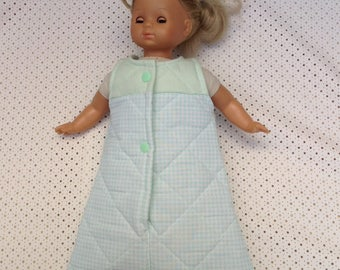 Sleeping bag Doll or doll of + or - 30 cm doll sleeping bag, Bunting, sleeping bag for baby or doll from 27 to 35 cm