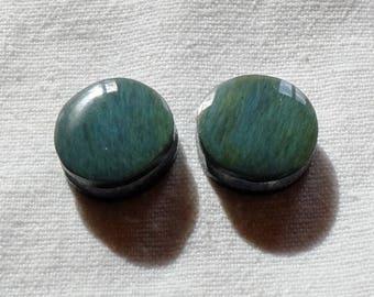 Obsidian manta Huichol Mexico - o - rings 2