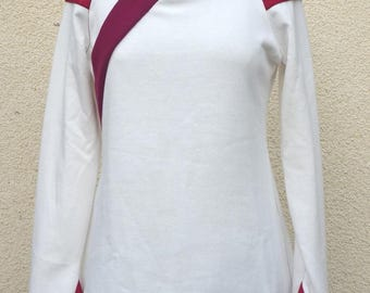 """Kimivi"" white tunic sweater"