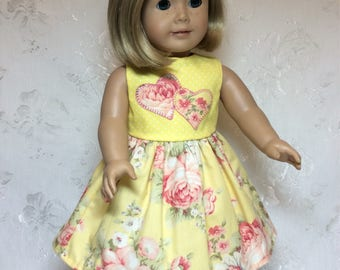 "Lovely Summer Dress to fit 18""American Girl Doll"