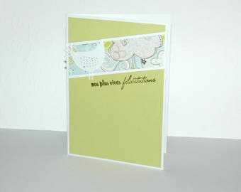 "Baby boy congratulations card ""Our congratulations"""