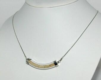 Glass bubble necklace - beach sand Inclusion - Souvenir