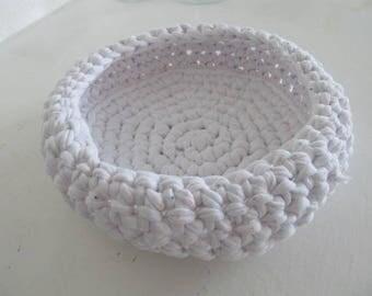 pretty white basket in cotton elastane