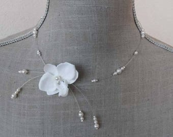 "Necklace ""Ivory Orchid"""