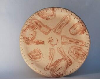 Ceramic Sushi plate cake plate dinner pottery dessert plate gift for men handmade plate housewarming gift serving plate