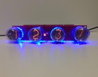 Nixie tube clock IN-4 Blue