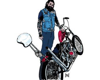 Made To Order • Personal/Custom Hand Drawn Motorcycle Illustrations • (Example Shown)