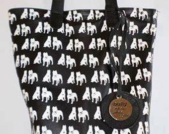 American Pit Bull Terrier Leather Purse.