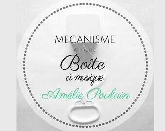 """Music box / musical mechanism to string """"Waltz of Amélie Poulain"""" - Yann Tiersen"""