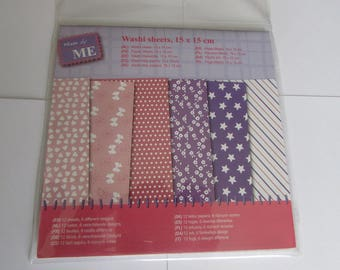 12 sheets stickers washi paper