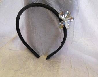 pretty black and silver headband