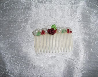 Pearls wedding comb