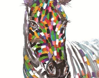 Zebra Textured Print