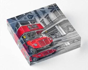 Route master noumber 15 London  - Acrylic Block - BalazsRomsics 4 x4 / 6 x 6 Home decor