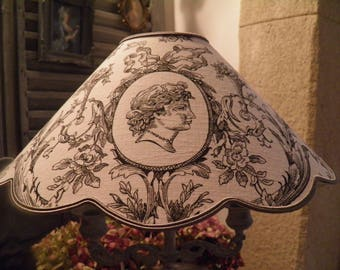 toile de jouy patterns old Lampshade style 18th century