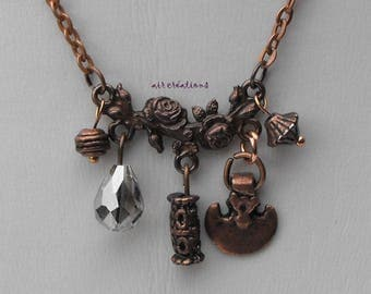 Copper CL.0214 charms metal chain necklace