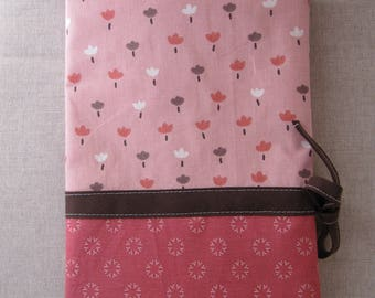 Cover printed health flowers pink and Brown