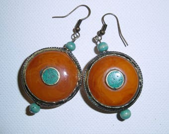 Kathmandu orange earrings
