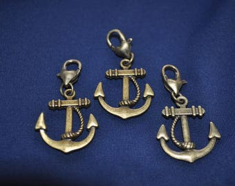 pretty charm anchor attached to its small carabiner