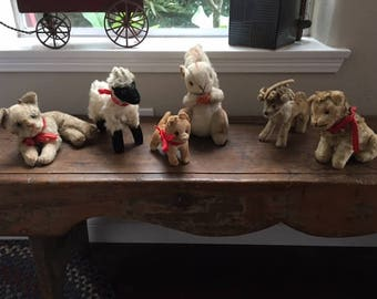 Steiff Vintage Stuffed Toy Animal Collection