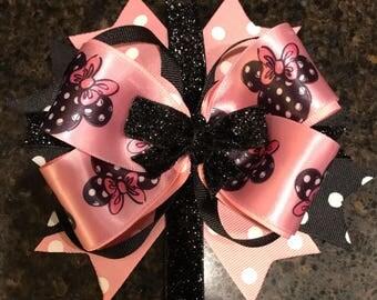 Minnie Mouse Boutique Hair bow clip