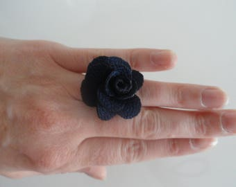 """ring with a blue flower Navy """"sofia"""""""