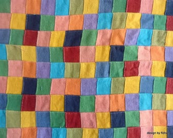 FABRIC MULTICOLORED PATCHWORK 1.70 M