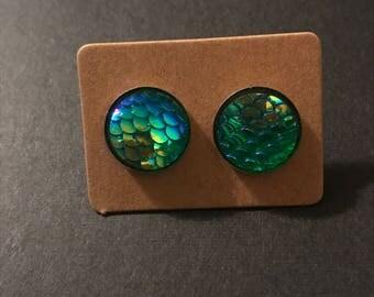 12mm Mermaid earrings