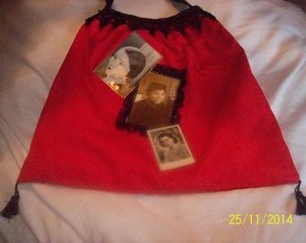 "Handbag ""Retro"" red cotton (anthology of beauty)"