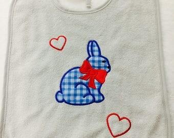 Bunny applique bib