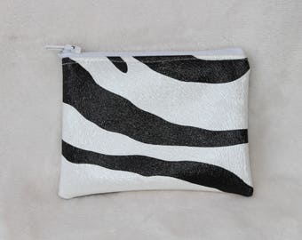 Fashion Zebra faux coin