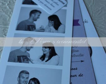 Personalized photo booth wedding invitation