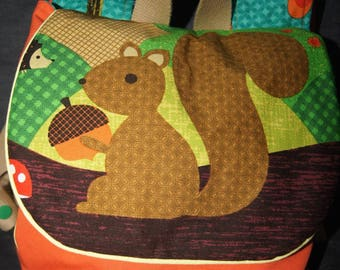 "Backpack child / kindergarten ""squirrel"""