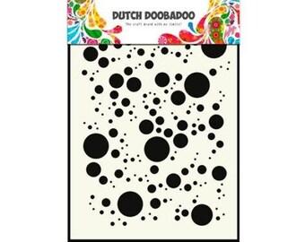 Stenciled Dutch Doobadoo Mask Bubbles A5 new stencil Art