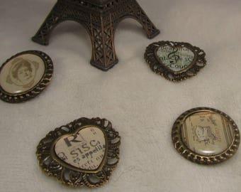 "the pins ""Barok"" Creat'Y. O.N - feminine and unique-"