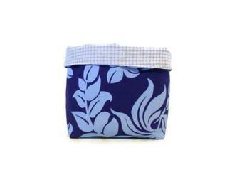 Basket / blue fabric basket, large size