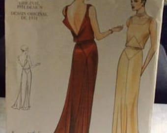 VINTAGE VOGUE #2241 Evening Gown Pattern