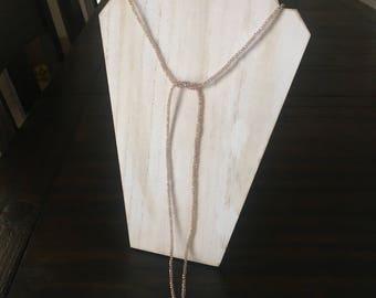 """Collar de cristal con perlas de río 56"""""""